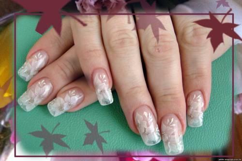 Дизайн льдом на ногтях фото